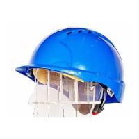 08 Каска JSP ЭВО 3 с храповиком и вентиляцией синяя