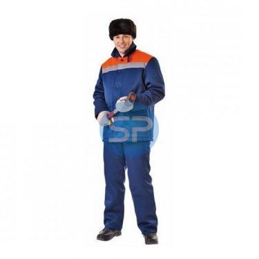 39 Куртка ЗИМОВКА с о сине-оранжевая
